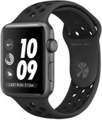 Умные часы APPLE Watch Nike+ 38mm, Space Greyr+Bl MQKY2 (MQKY2RU/A)