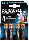 Батарейки DURACELL Turbo Max AА MX1500, 4 шт.